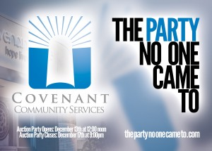 The Party No One Came To - help Covenant help youth!